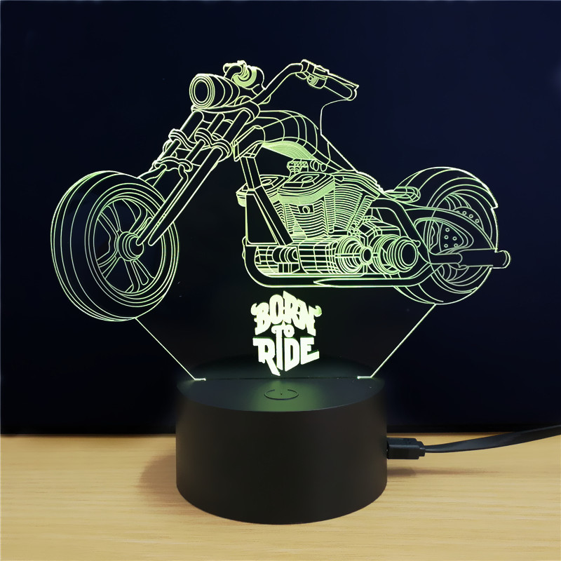 3D LED Chopper Bike Beleuchtung in 3D Optik