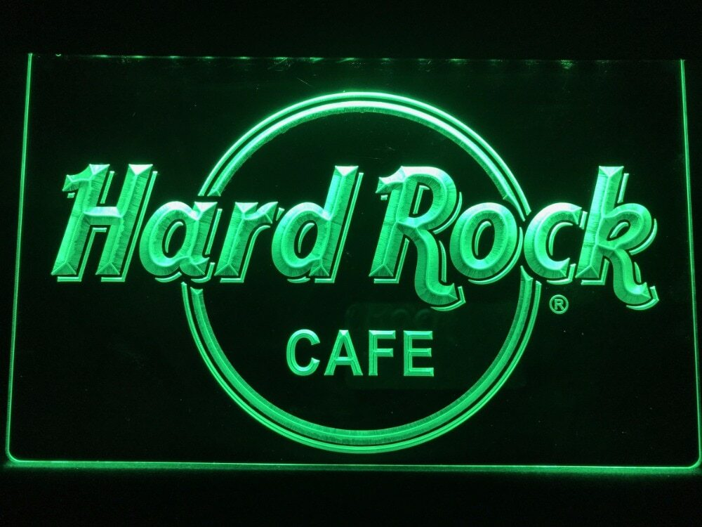 Neon 3D LED Leucht-Schild Hard Rock CAFE, Leuchtreklame